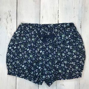 GAP Toddler Girl Navy Blue Shorts w/ Elastic Waist